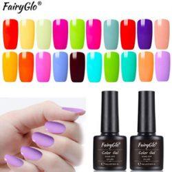 Uñas de gel de colores