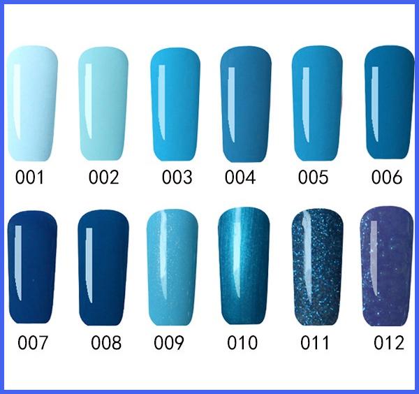Uñas de gel azules